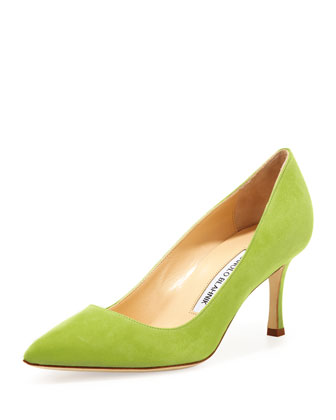 BB Suede 70mm Pump, Cocorita (Made to Order)