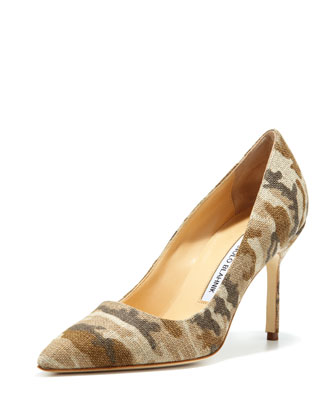 BB Linen 90mm Pump, Camo (Made to Order)