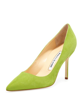 BB Suede 90mm Pump, Cocorita (Made to Order)