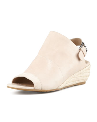 Blink Leather Slingback Wedge