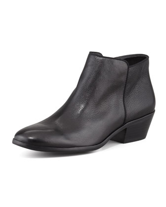 Petty Leather Ankle Boot, Black