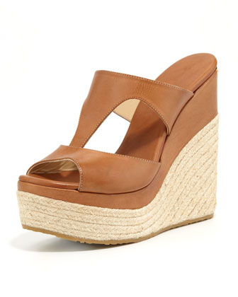 Pledge T-Strap Rope Wedge Slide Espadrille