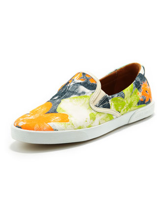 Demi Printed Canvas Skater Slip-On
