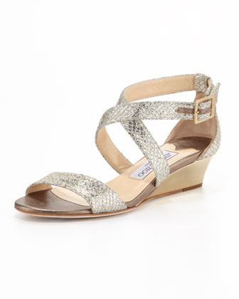 Chiara Crisscross Demi-Wedge Sandal