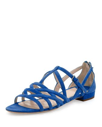 Strappy Suede Flat Sandal