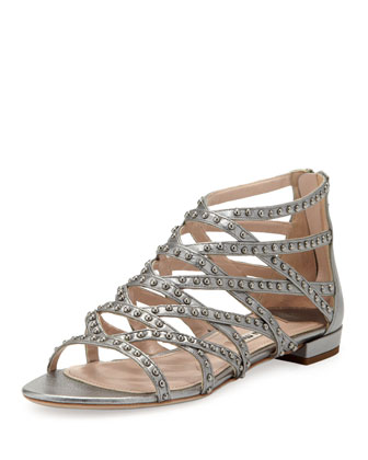 Studded Metallic Gladiator Sandal