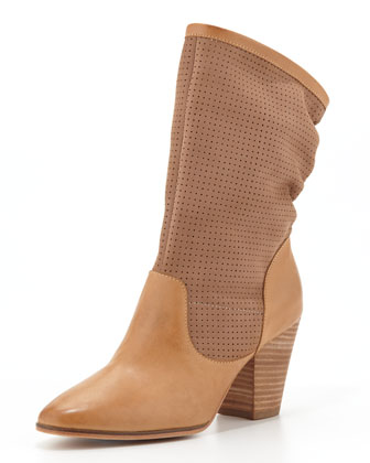 Brynn Slouchy Perforated Boot, Fatique