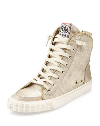 Shake Metallic Zip-Back High-Top