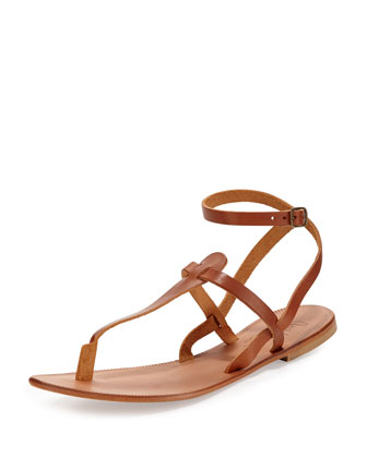 Toulon Ankle-Wrap Thong Sandal