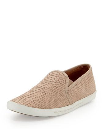 Kidmore Snake-Print Slip-On, Dusty Pink Sand