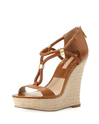 Sherie T-Strap Wedge Sandal