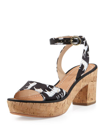 Odelia Too Jungle Print Sandal
