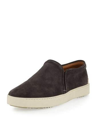 Kent Suede Slip-On, Charcoal