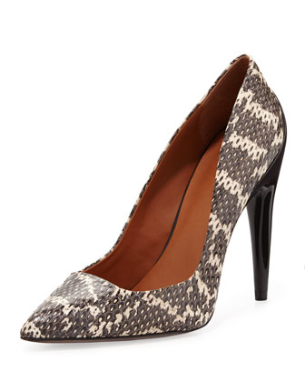 Cameron Snakeskin Pointy-Toe Pump