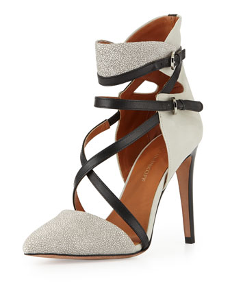 Raz Stingray-Print Strappy Pump
