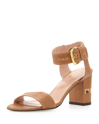 Breezy Leather City Sandal, Adobe
