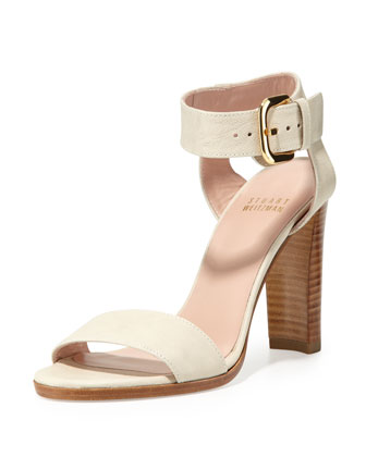 Breezy Leather Sandal, Vanilla