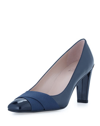 Expert Patent Leather Crisscross Pump, Navy