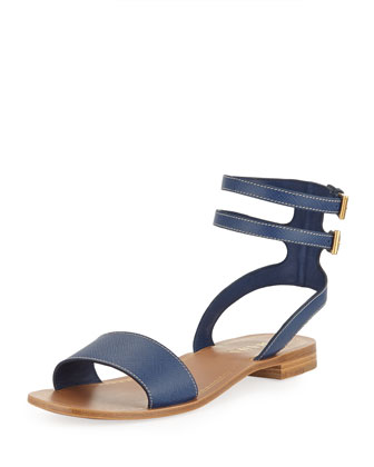 Double Banded Gladiator Sandals, Blue