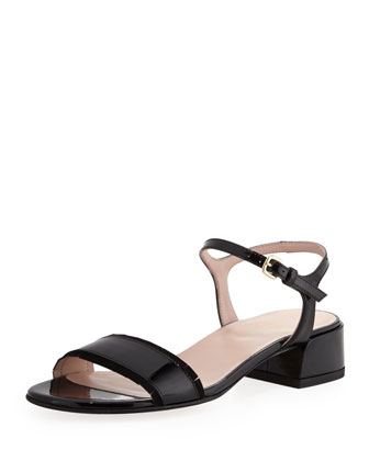 Synopsis Patent City Sandal, Black