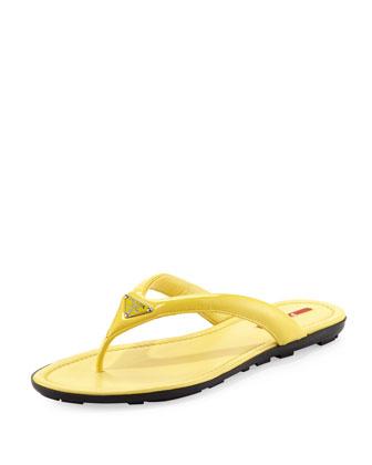 Vernice Logo Flip-Flop, Yellow