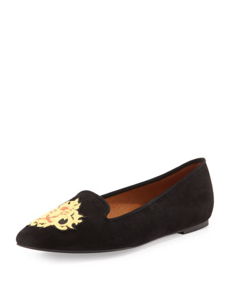 Birthday Zodiac Suede Slipper, Leo