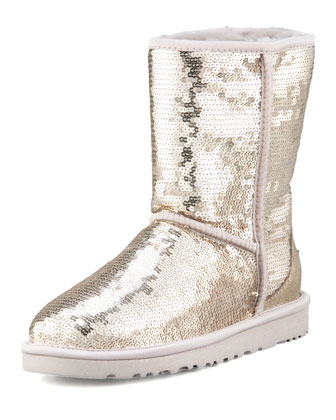 Sequined Sparkles Shearling Boot