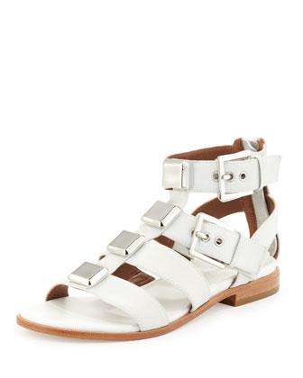 Lexi Wide-Strap Gladiator Sandal, Foam Ivory