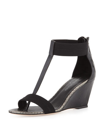 Palo Combo Stretch Ankle-Strap Wedge