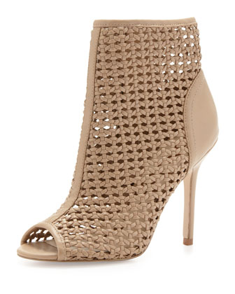 Aubriana Woven Cage Sandal, Nude