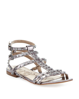 Berkeley Metallic Studded Sandal