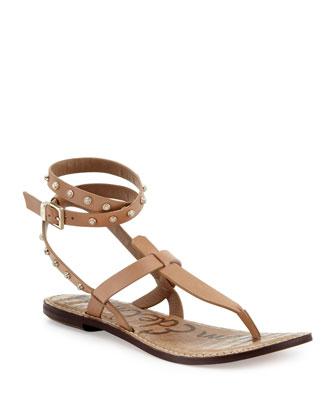 Gabriela Studded-Ankle-Wrap Sandal