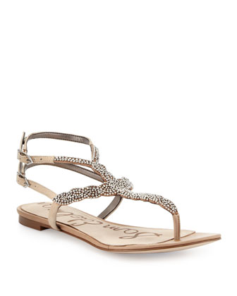 Nahara Beaded Thong Sandal