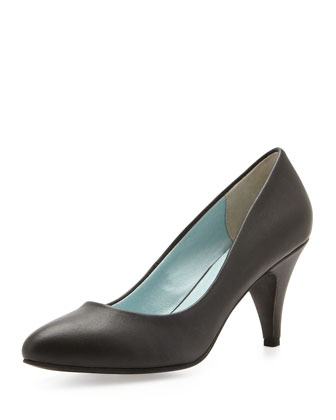 Don't Let Go Leather Pump, Black