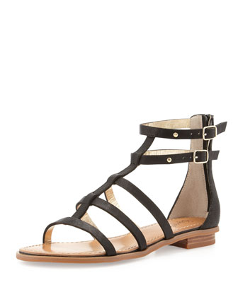 Aim High Gladiator Sandal, Black