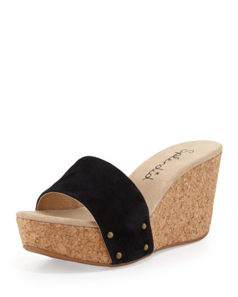 Greenville Cork Wedge Slide