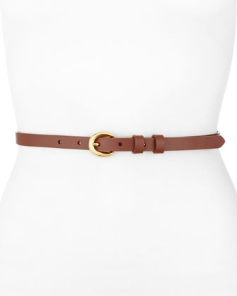 Leather Skinny Belt, Luggage