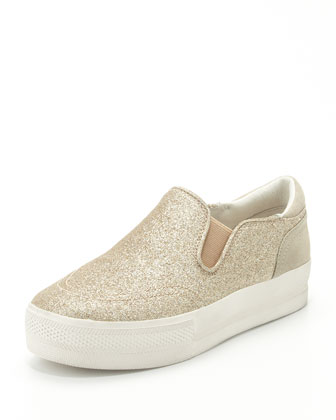 Jungle Bis Glitter Slip-On, Champagne