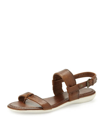 Amelia Leather Slingback Sandal, Cognac