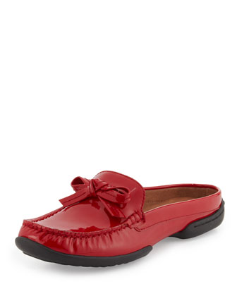 Viti Patent Loafer Mule, Red