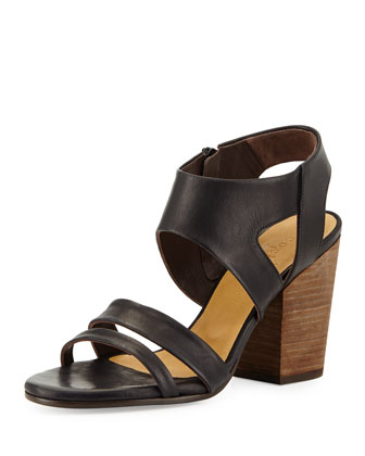 Cersei Chunky Leather Sandal, Black