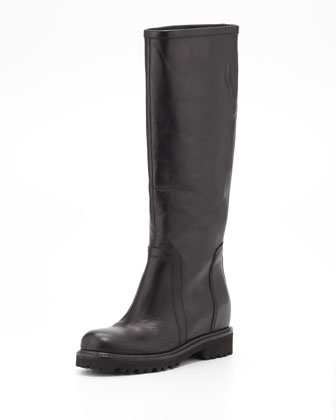 Crosby Hidden Platform Boot, Black