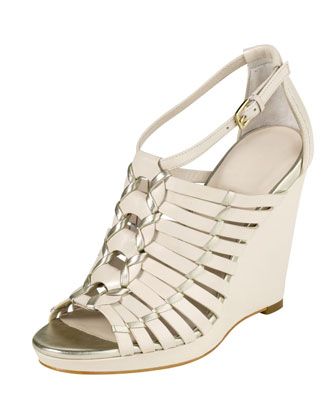 Air Minka Wedge Sandal, White