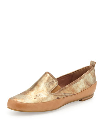 Lincoln Metallic Leather Slip-On, Hazelnut