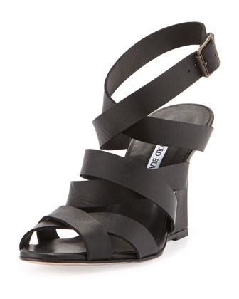 Avola Strappy Crisscross Wedge