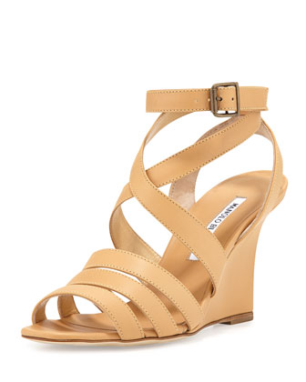 Zoccolito Strappy Wedge Sandal, Dune