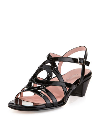 Oma Patent Strappy Sandal, Black