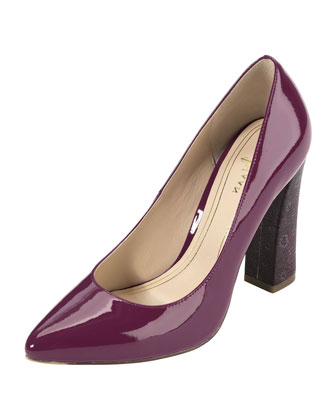 Chelsea Air Block-Heel Pump, Winery
