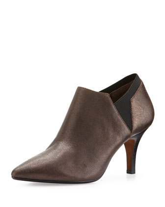 Tillie Mixed Media Ankle Boot, Bronze