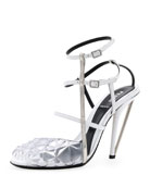 Molded PVC Leather Sandal, White